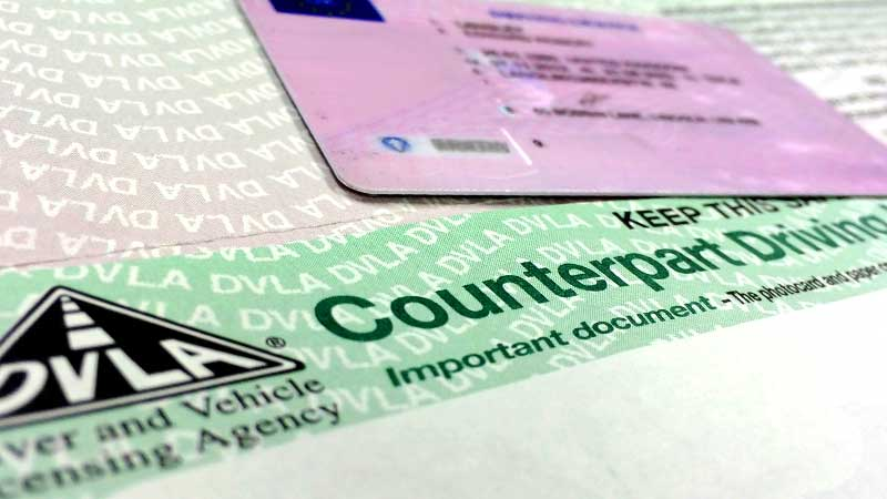 order a paper driving licence